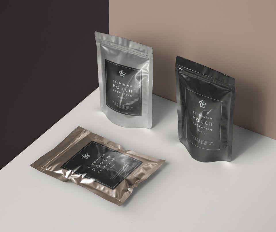 Download Free Metal Foil Packaging Mockup Freebies Fribly Pouch Packaging Free Packaging Mockup Packaging Mockup