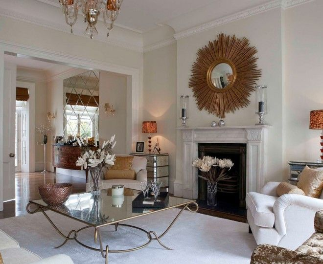 Living Room Design Contemporary Pleasing Superb Sunburst Mirror Look London Contemporary Living Room Design Ideas