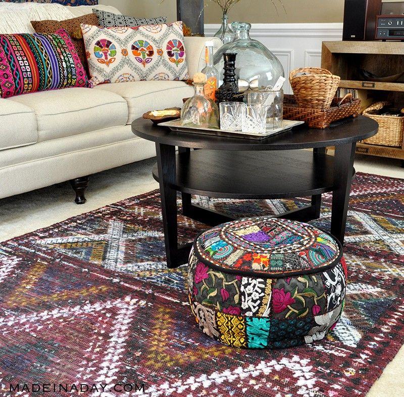 Boho Living Room Makeover: Pop Of Color With World Market