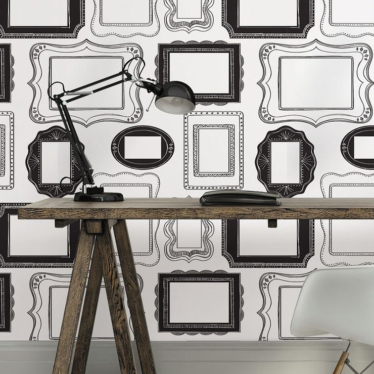 So Into This Design On Fab Photo Frames Removable Wallpaper Fabforall Framed Wallpaper Feature Wall Wallpaper Peel And Stick Wallpaper
