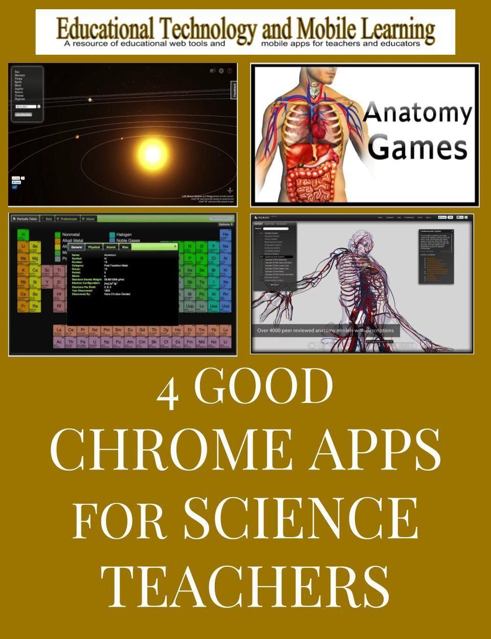 4 Good Chrome Apps For Science Teachers Teaching Science