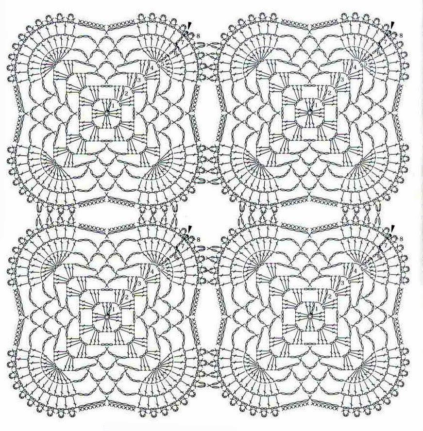 tejidos artesanales en crochet: mantel rectangular tejido en crochet ...