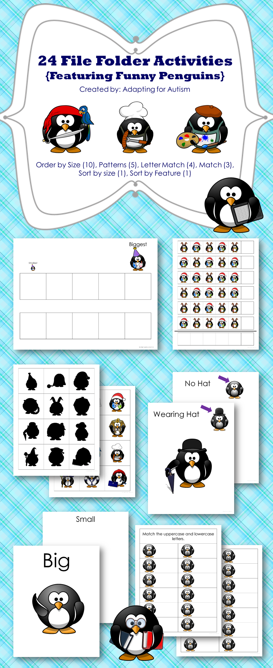 Autism File Folder Activities: Patterning, Sorting, Ordering ...