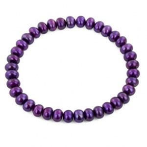 Radiant Orchid Go-With : Honora Freshwater Rondel Pearl Bracelet In Grape