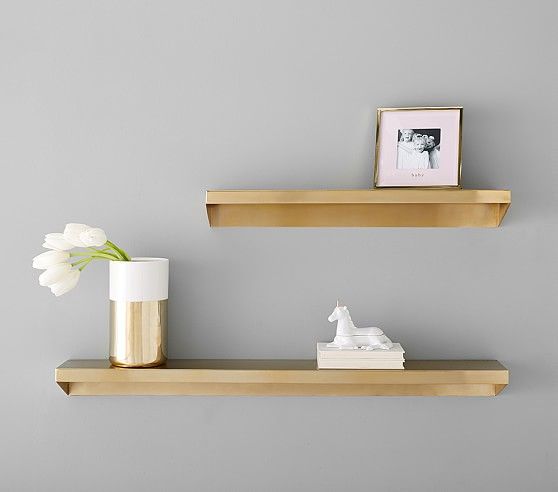 Floating Brass Metal Shelving Metal Shelves Floating Shelves Acrylic Wall Shelf