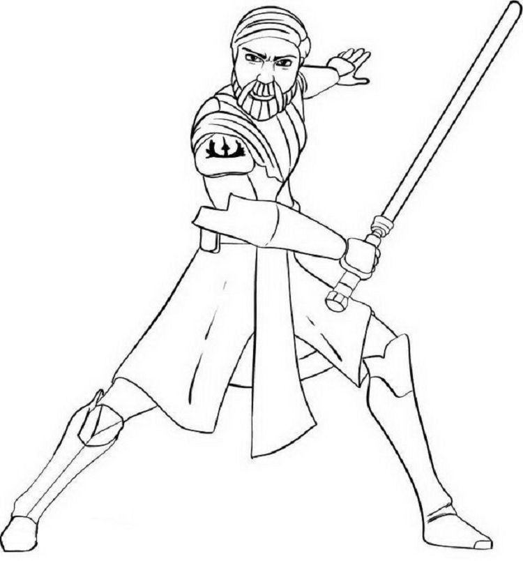 Star Wars Obi Wan Kenobi Coloring Pages Star Wars Obi Wan Super