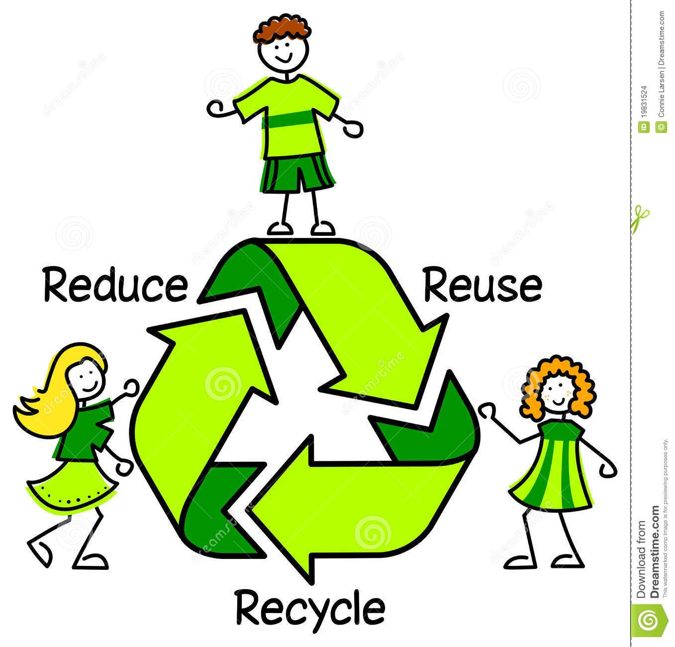 Green Recycle Kids/eps Stock Images - Image: 19831524 | We are ...