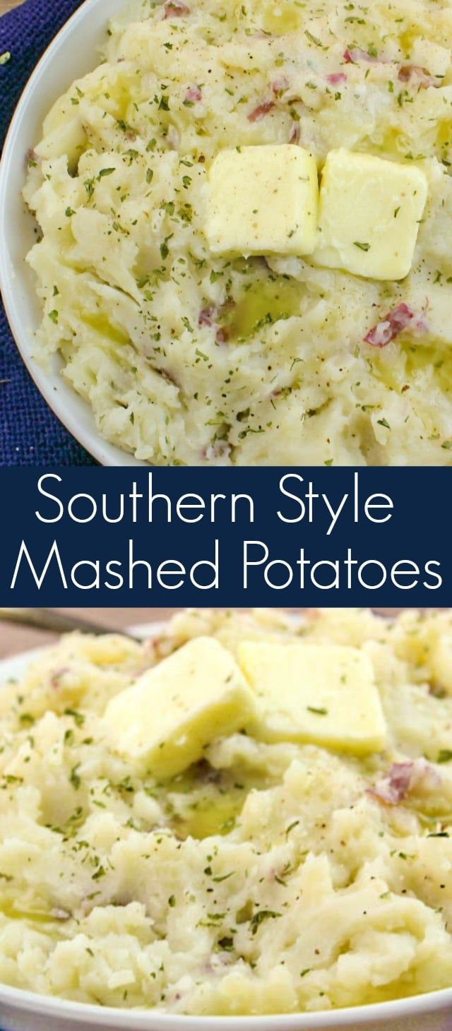 southern food #food #foods Southern Style Mashed Potatoes - New South Charm