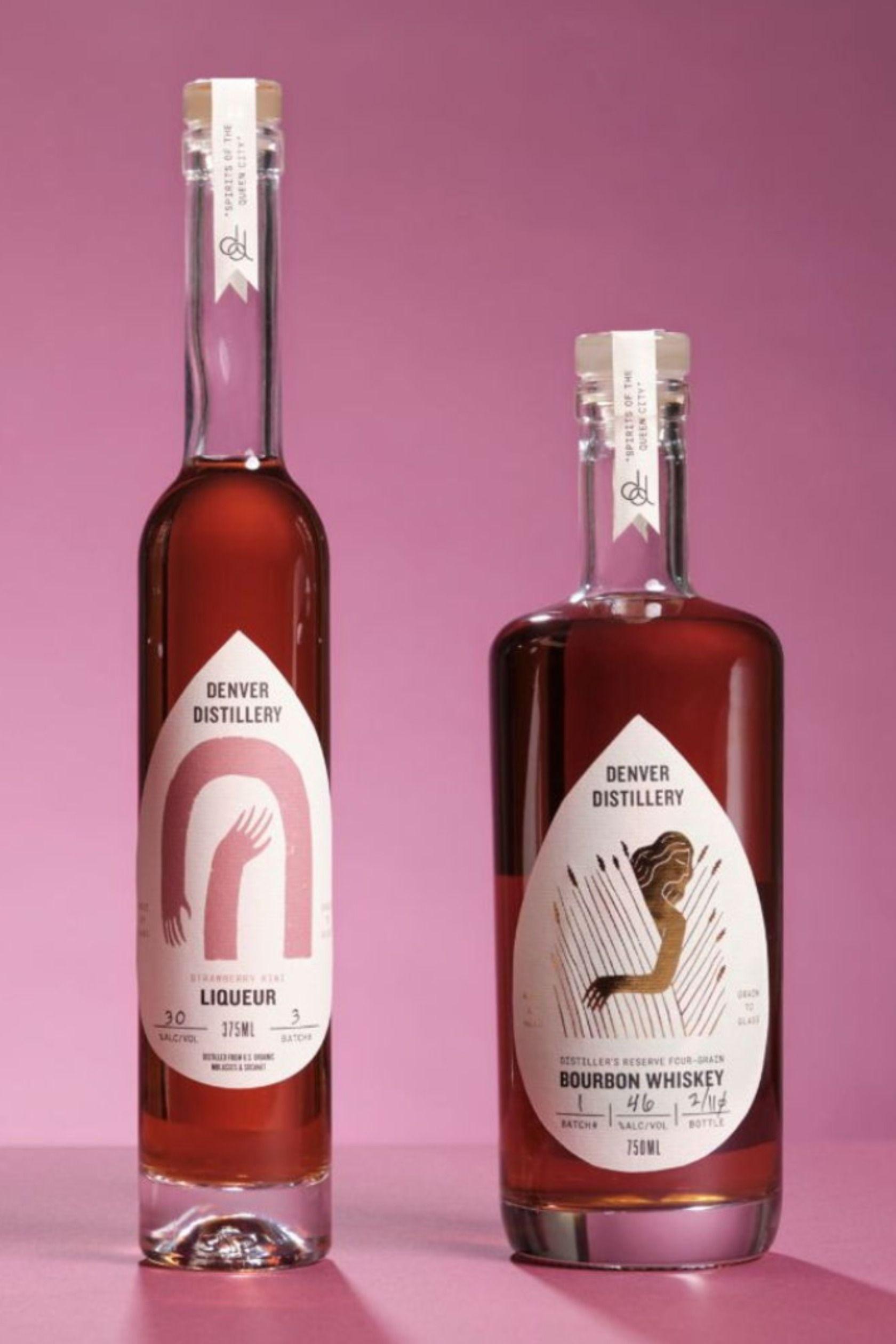 Denver Distillery S New Label System Is A Unified Knockout In 2020 Distillery Liquor Bottle Labels Gin Bottles