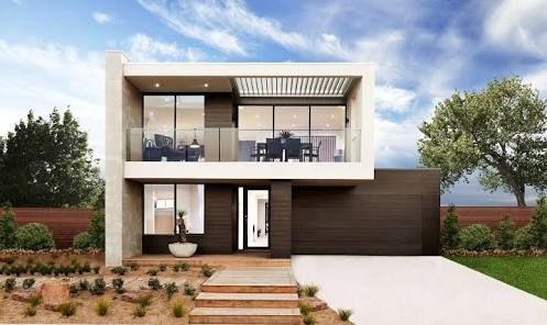 contemporary double story house facades australia google search rh pinterest com
