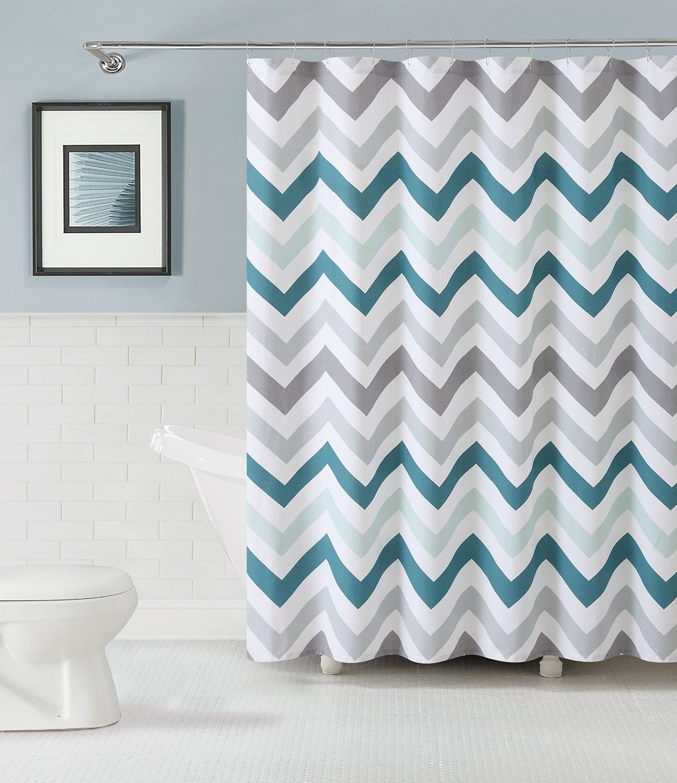 amazon com goodgram chevron cotton fabric shower curtain rh pinterest com