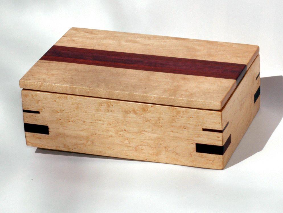 Handmade Maple Jewelry Box Fine Jewelry Wooden Jewelry Boxes Wooden Keepsake Box Decorative Boxes