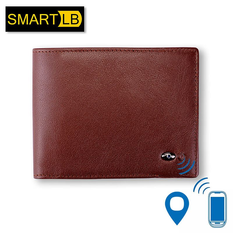Men Genuine Leather Bluetooth Anti Theft GPS Locator Alarm Tracker Smart Wallet