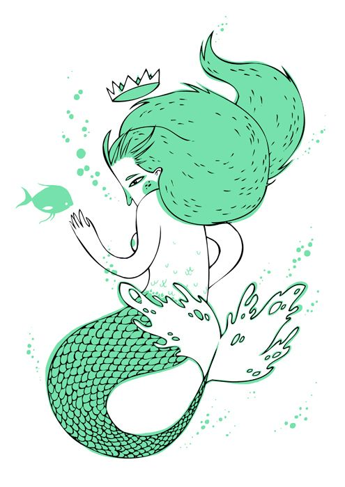 The sailor  the mermaid by Jotaká, via Behance