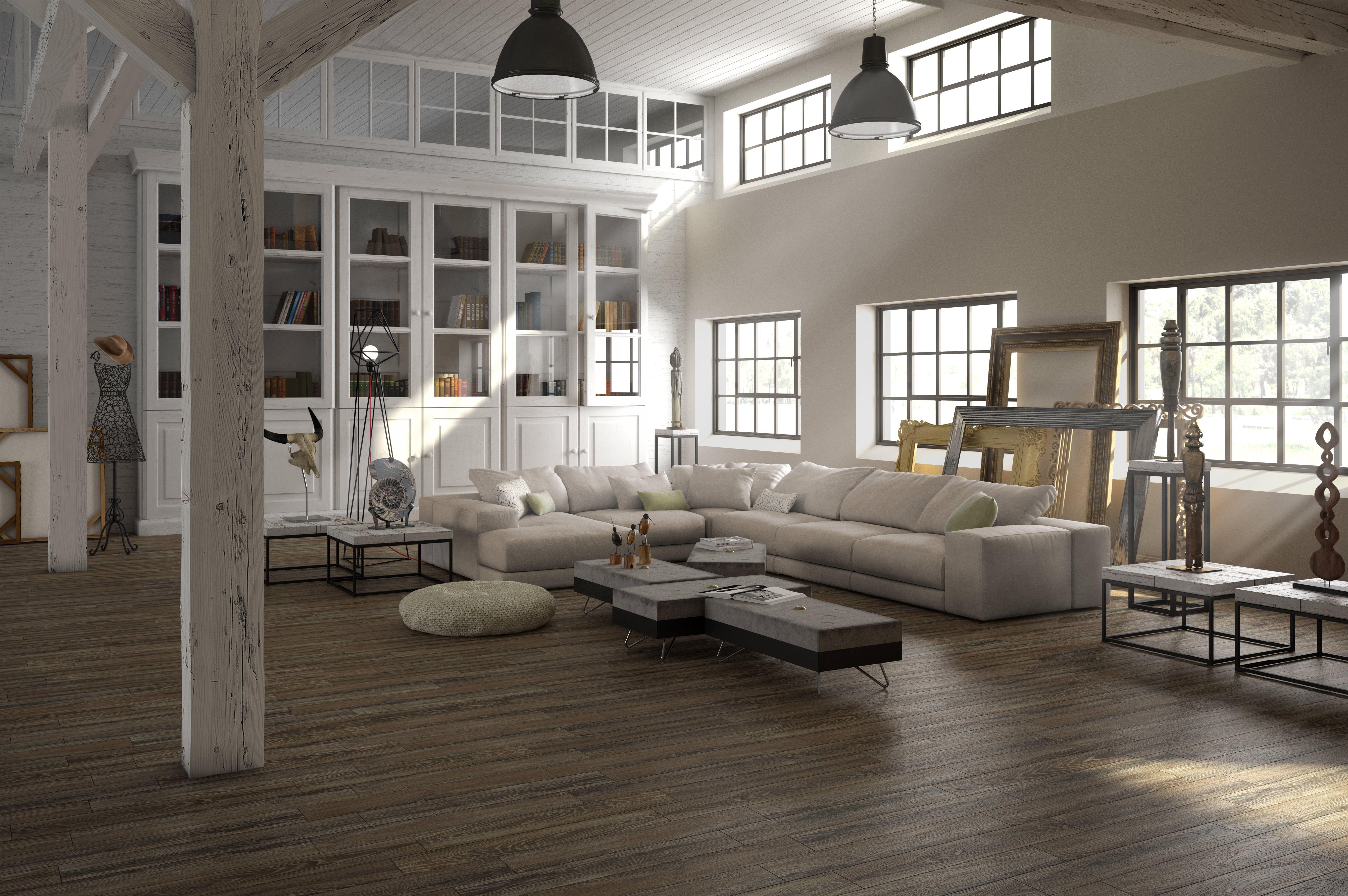 Sal n madera cer mica imitaci n de madera natural for Decoracion piso 65 m