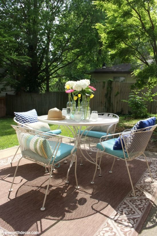 how to paint metal patio furniture green with decor blog metal rh pinterest ie