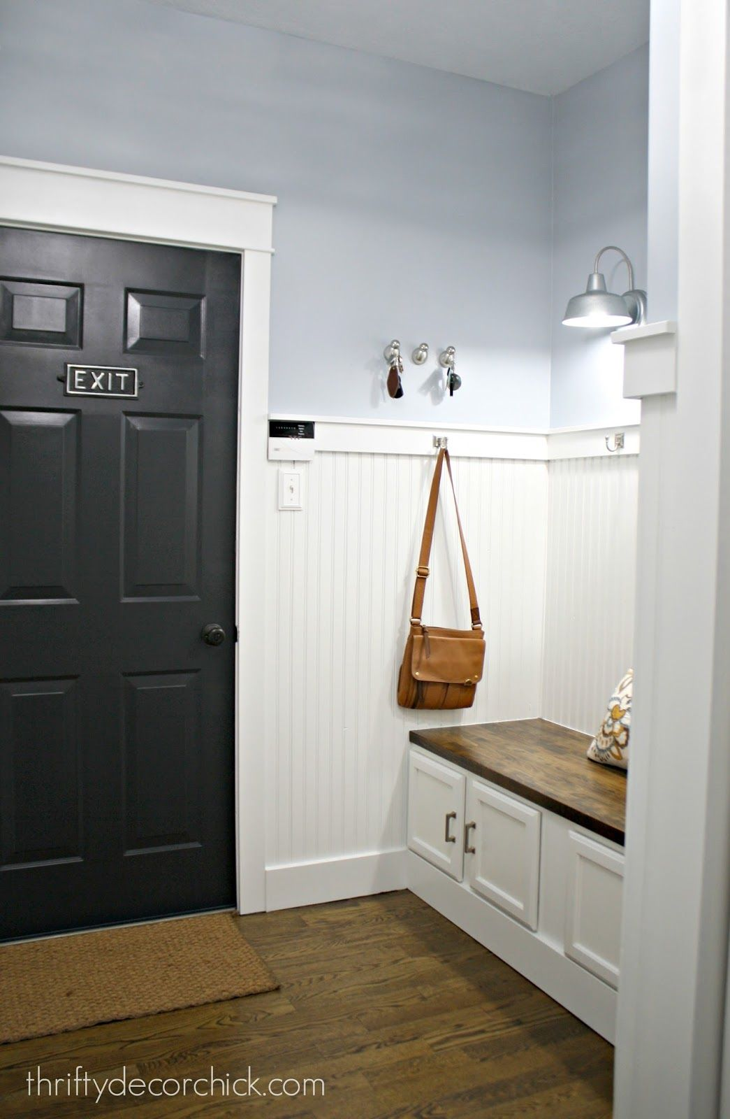 our mudroom makeover from dark to bright and light for the rh pinterest com
