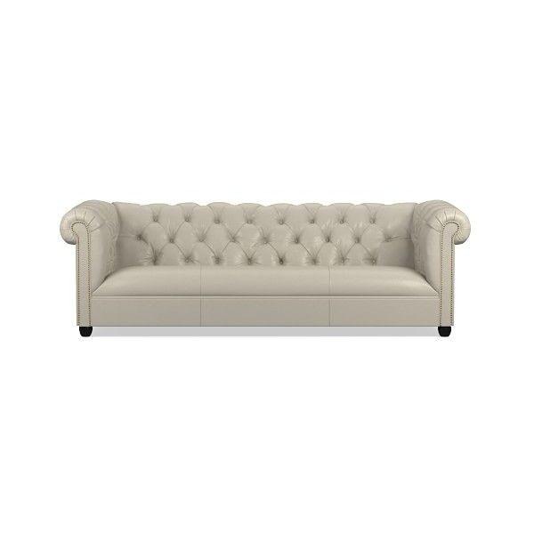 williams sonoma bond chesterfield sofa 5 295 liked on polyvore rh pinterest com