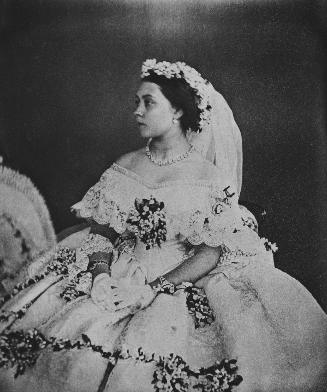 Antiqueroyals Queen Victoria S Daughters In Wedding Dress Victoria Alice Helena Louise And Beatr Victoria Wedding Dress Royal Wedding Dress Victoria Wedding [ 1500 x 1253 Pixel ]