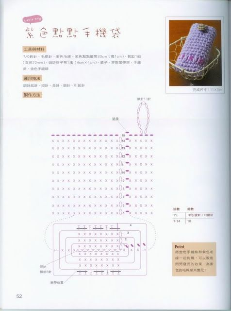 Porta Movil, Cartera de Crochet - Patrones Crochet | CROCHET ...