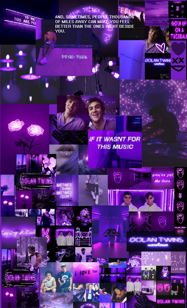 Tons of awesome purple laptop collage wallpapers to download for free. 𝒟𝑜𝓁𝒶𝓃 𝒯𝓌𝒾𝓃𝓈 purple aesthetic wallpaper made by ...