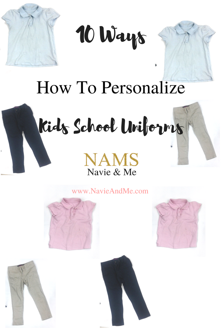 10 Ways How To Personalize Kids School Uniforms | Toddler