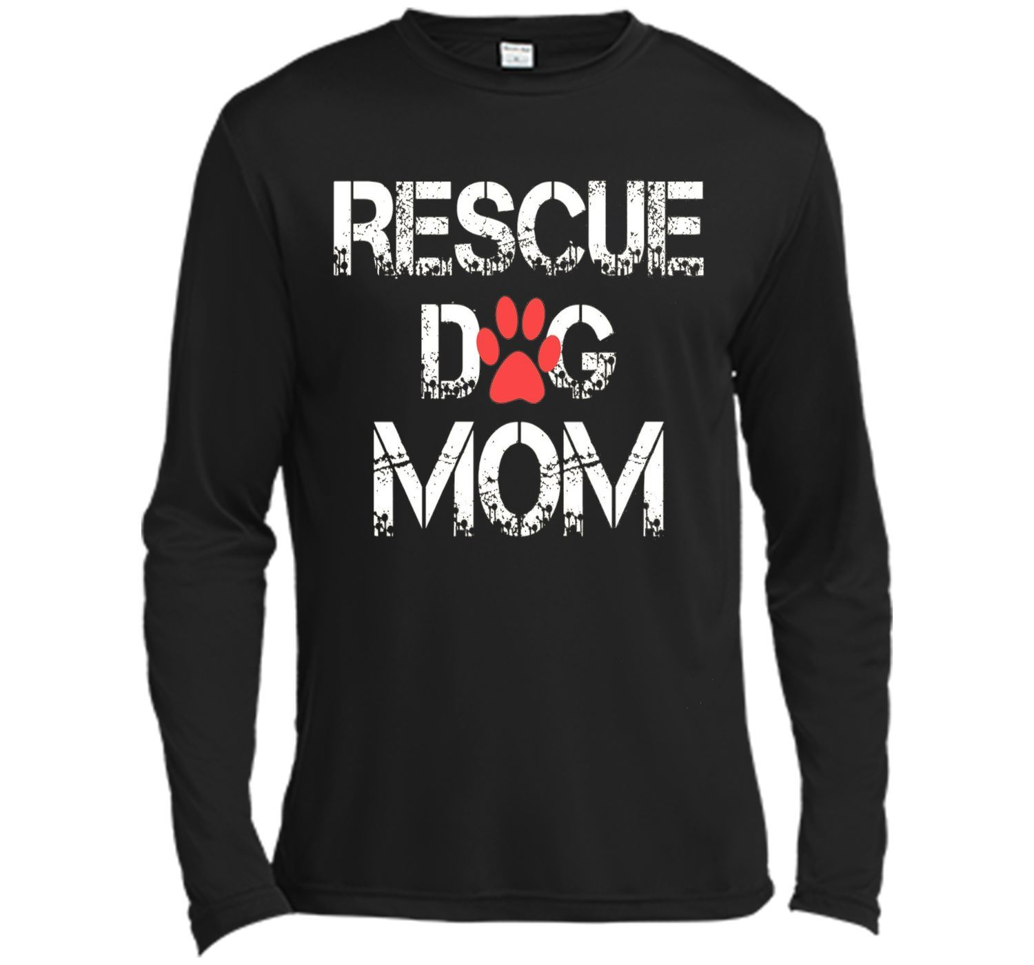 RESCUE DOG MOM Tshirt - mother's day
