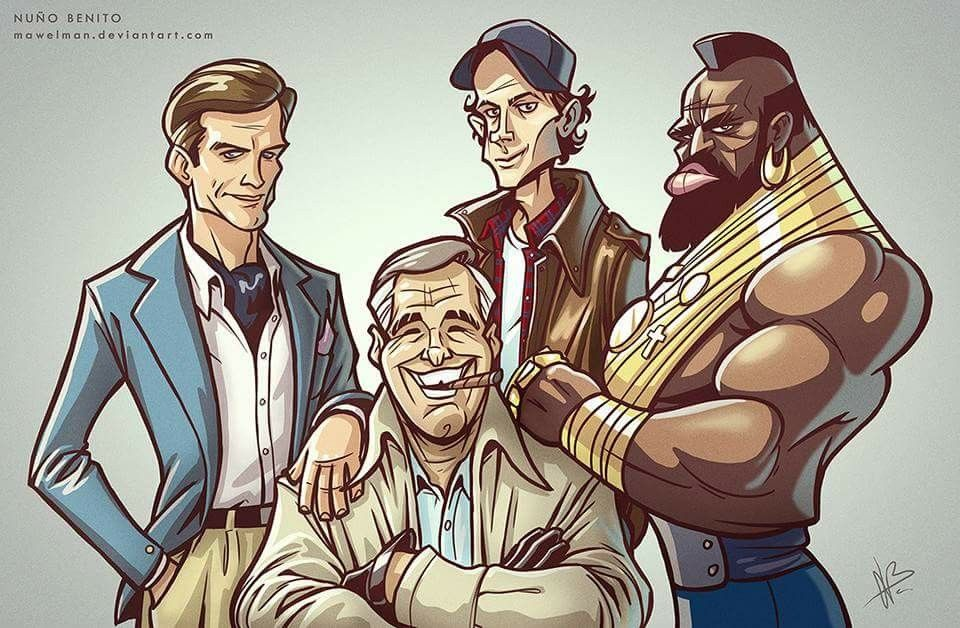 Pin By Tina Hollifield On A Team The A Team Famous Cartoons