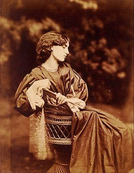 Jane Morris wife of poet William Morris and model of Dante Gabriel Rosetti. muse for his dark goddesses paintings