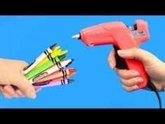 10 IDEAS CON SILICONA CALIENTE. MANUALIDADES FÁCILES. VIDEO SATISFACTORIO - YouTube