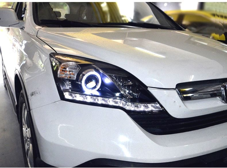Front Led Headlights Lamp With Angel Eye For Honda Crv 2007 2011