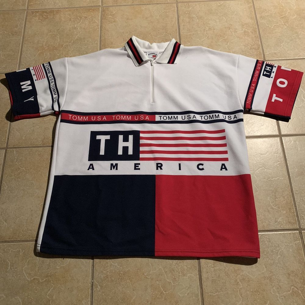 aa4ecf83 Vintage Bootleg Tommy Hilfiger Sports Mens Polo Shirt 1/4 zip #fashion  #clothing #shoes #accessories #mensclothing #coatsjackets (ebay link)