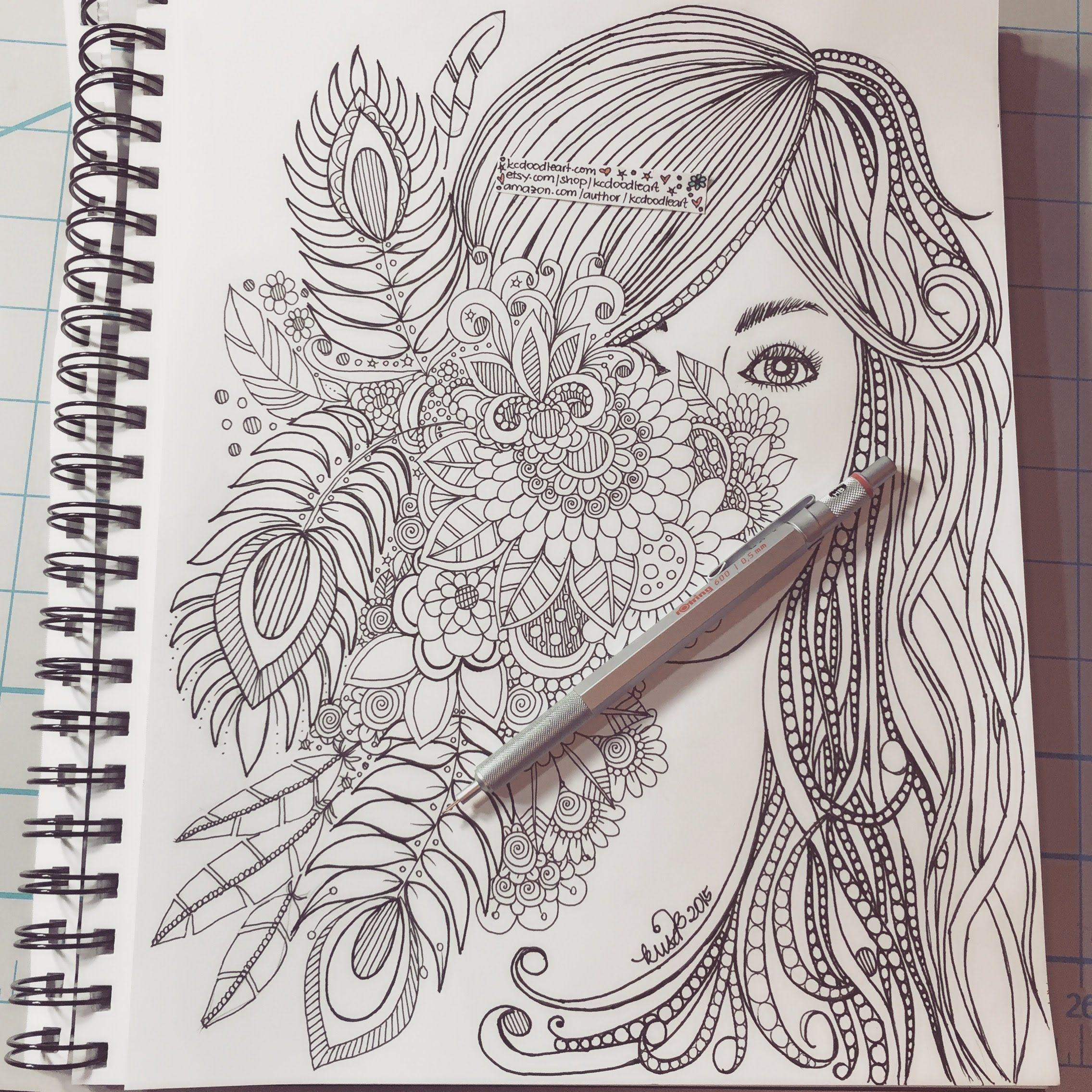 Speed Doodling Hidden Face Behind Flowers Doodle Art Designs Art Drawings Sketches Creative Mandala Design Art