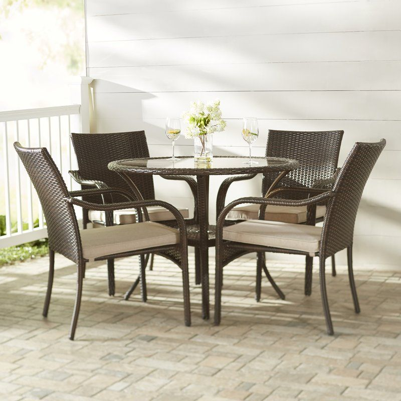 Bennington 5 Piece Dining Set With Cushions Outside In 2019