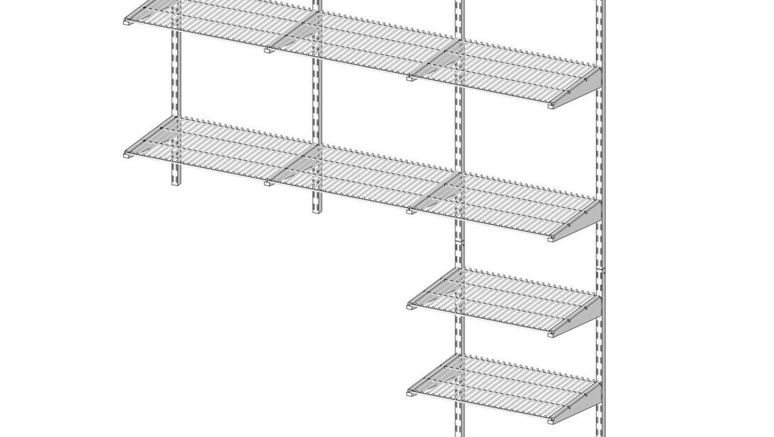Shelf Wall Mounted Shelves White Closet Shelving Metal Shelving