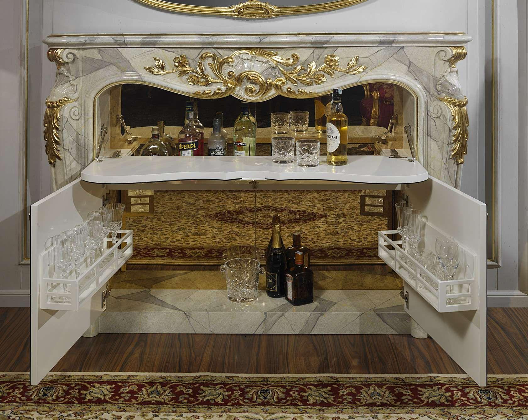 Mobiletto Sala Da Pranzo soggiorno barocco con mobile bar nel camino   vimercati meda