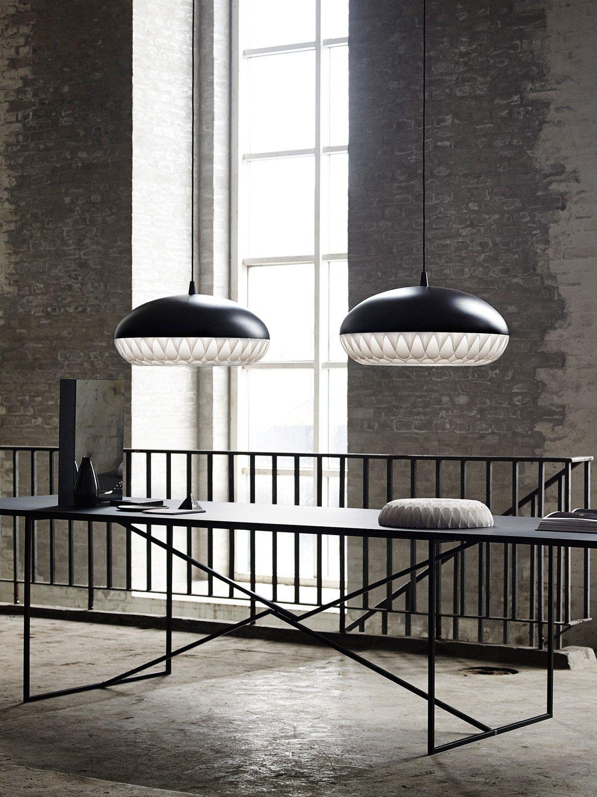 Designerleuchten in Schwarz-Weiß #skandinavischwohnen