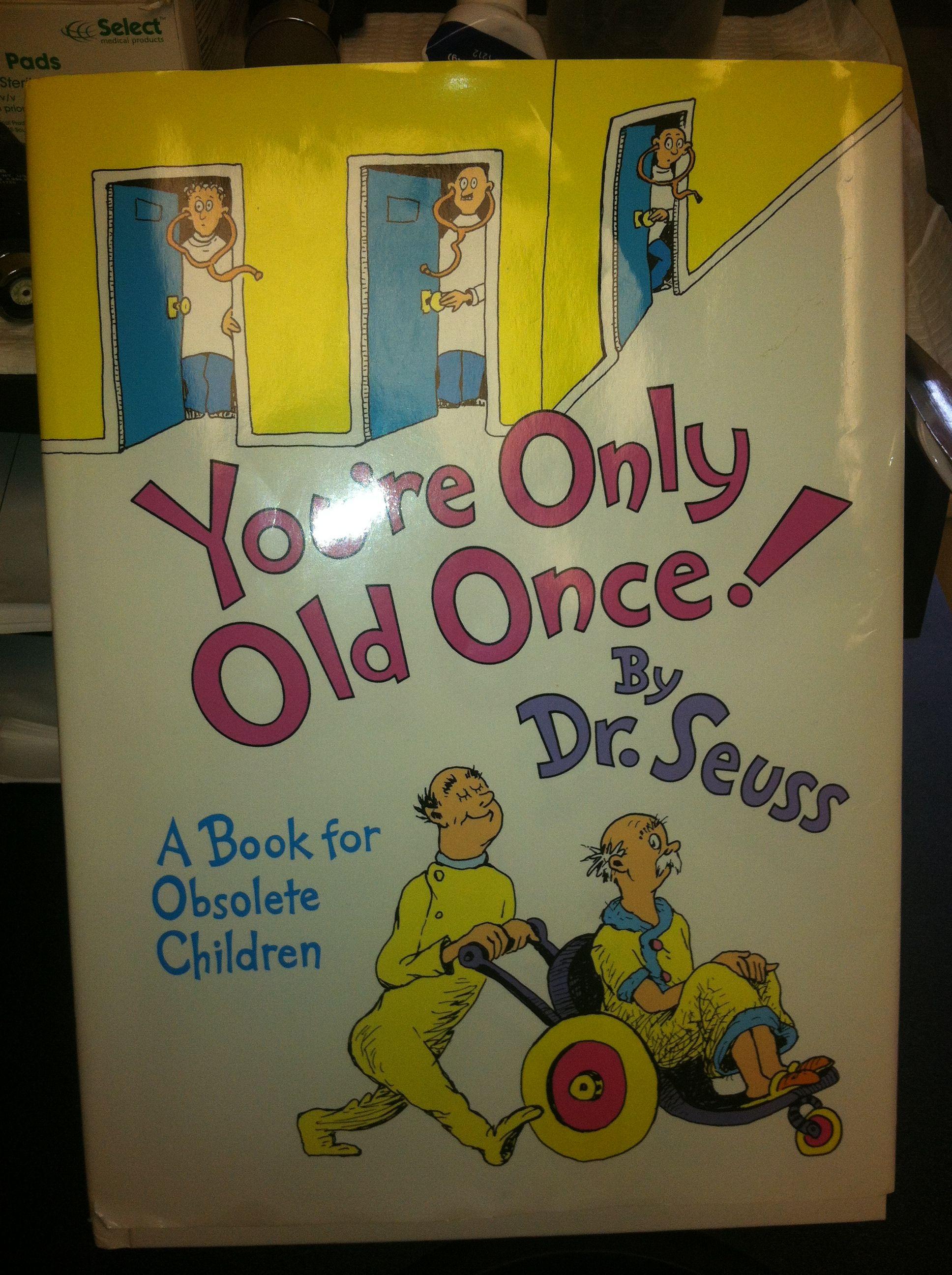 Dr seuss book on aging classic seuss novelty sign