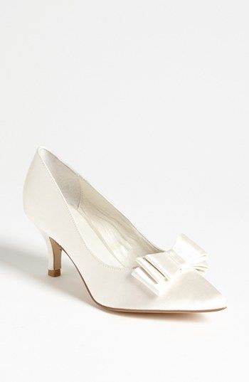 7b6b878ae14 Free shipping and returns on Menbur Bow Pump at Nordstrom.com. A triple bow  perfects the regal poise of a radiant satin pump.