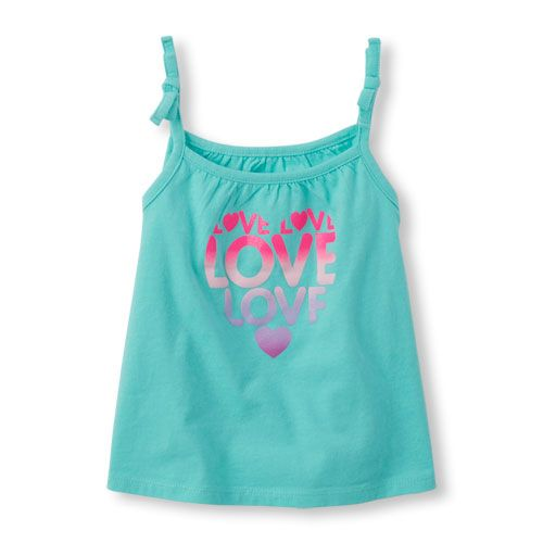 000658112667a Baby Girls Toddler Sleeveless Tie-Strap Tank Top - Blue - The Children s  Place