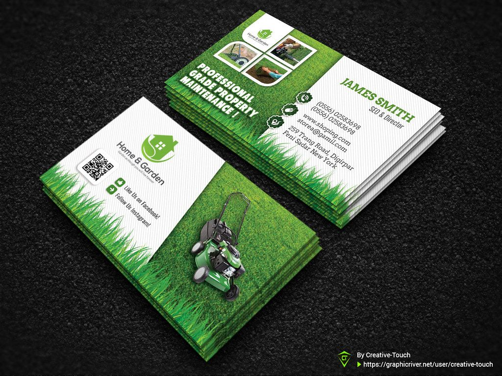 Garden Landscape Business Card Template Download Here Gr In Gardening Busi Lawn Care Business Cards Landscaping Business Cards Free Business Card Templates