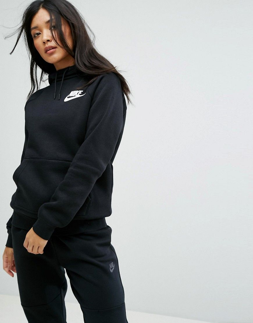 Get This Nike S Hooded Sweatshirt Now Click For More Details Worldwide Shipping Nike Rally Pullover Hoodie Black H Sporty Outfits Fashion Tracksuit Women [ 1110 x 870 Pixel ]