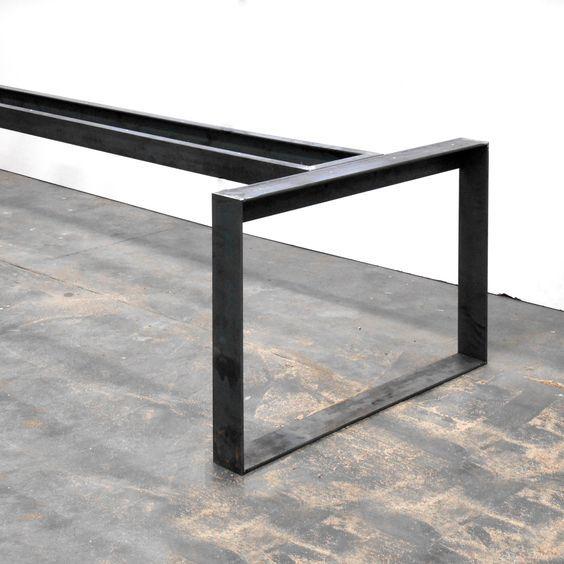 Pied de table en acier brut id es pour la maison - Table salle a manger design pied central ...