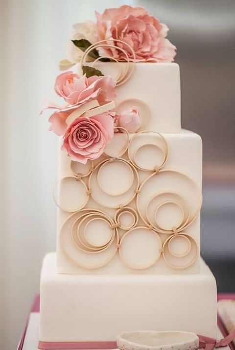 53 square wedding cakes that wow pinterest square wedding cakes square wedding cakes are a huge trend this year and many couples gonna rock them instead of round ones why just have a look at these masterpieces junglespirit Gallery