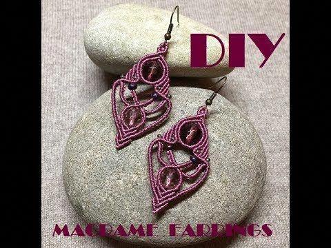 DIY MACRAME EARRINGS/ TRIBAL EARRINGS - YouTube #diyearrings