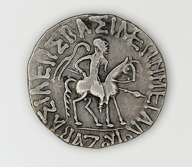 drachma of azes I 57bc Shunga Dynasty