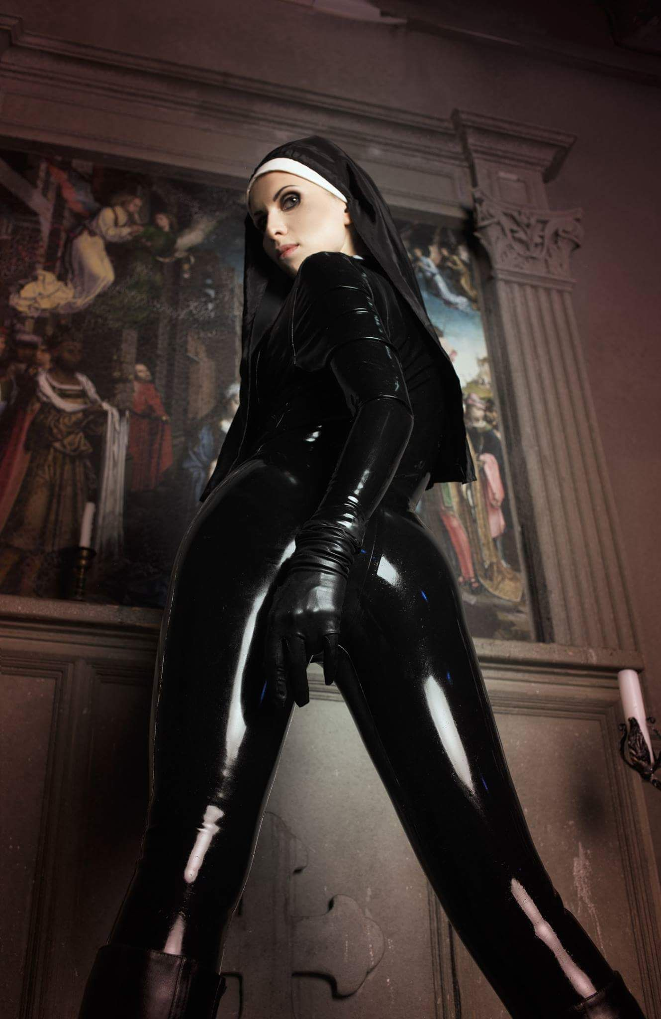 Latex Letter%0A Elena Samko   nun   latex cosplay