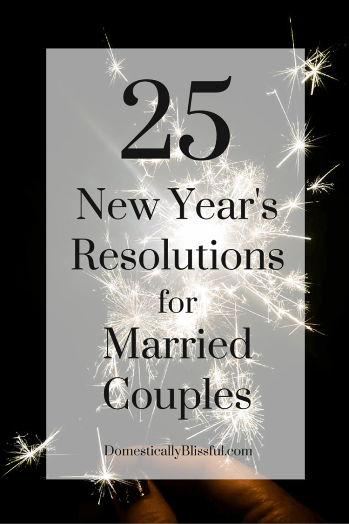 New year s resolutions for dating couples