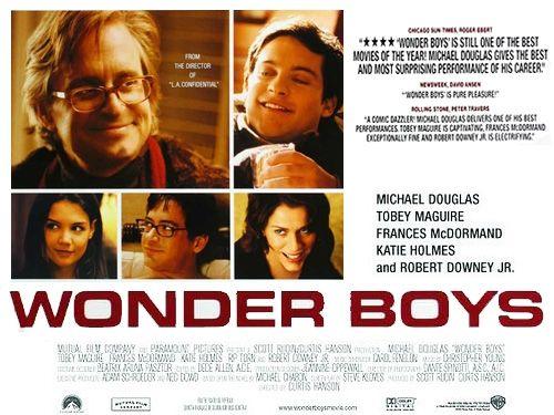 Título Original: Wonder Boys Título en Argentina: Fin de semana de locos #Wonder Boys #Curtis Hanson #Michael Douglas #Katie Holmes #Robert Downey Jr. #Tobey Maguire #titulodepeliculas