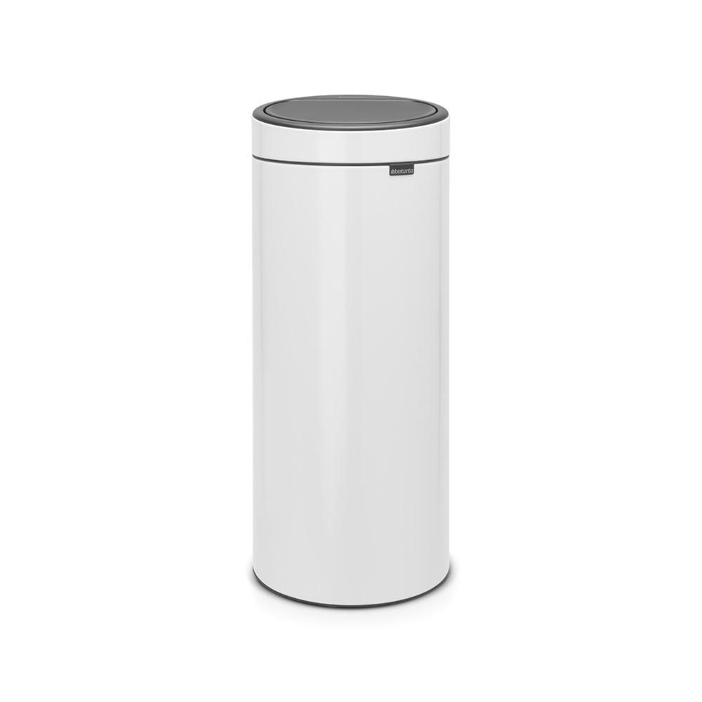 brabantia 8 gal touch top trash can in white products white bin rh pinterest com